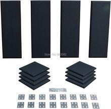 Высокое качество акустическая пена панели губка студия панели поглощения звука студия аудио акустическая комната лечение Kit 12-кабинет черный