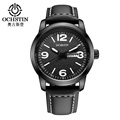 2016 Luxury Brand OCHSTIN Casual Watch Quartz Hour Date Clock Sport Watches Men s Leather Military