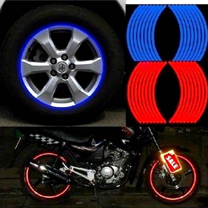 2015 18 Strips Car Styling Motorcycle Automobiles Wheel Tire Sticker On Car Rim Tape Car Sticker Parking Accessories<br><br>Aliexpress