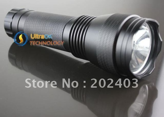 Free shipping 24W HID Xenon Spotlight 2500 Lumens Flashlight Torch Light With high quality stainless aluminum alloy tool case.