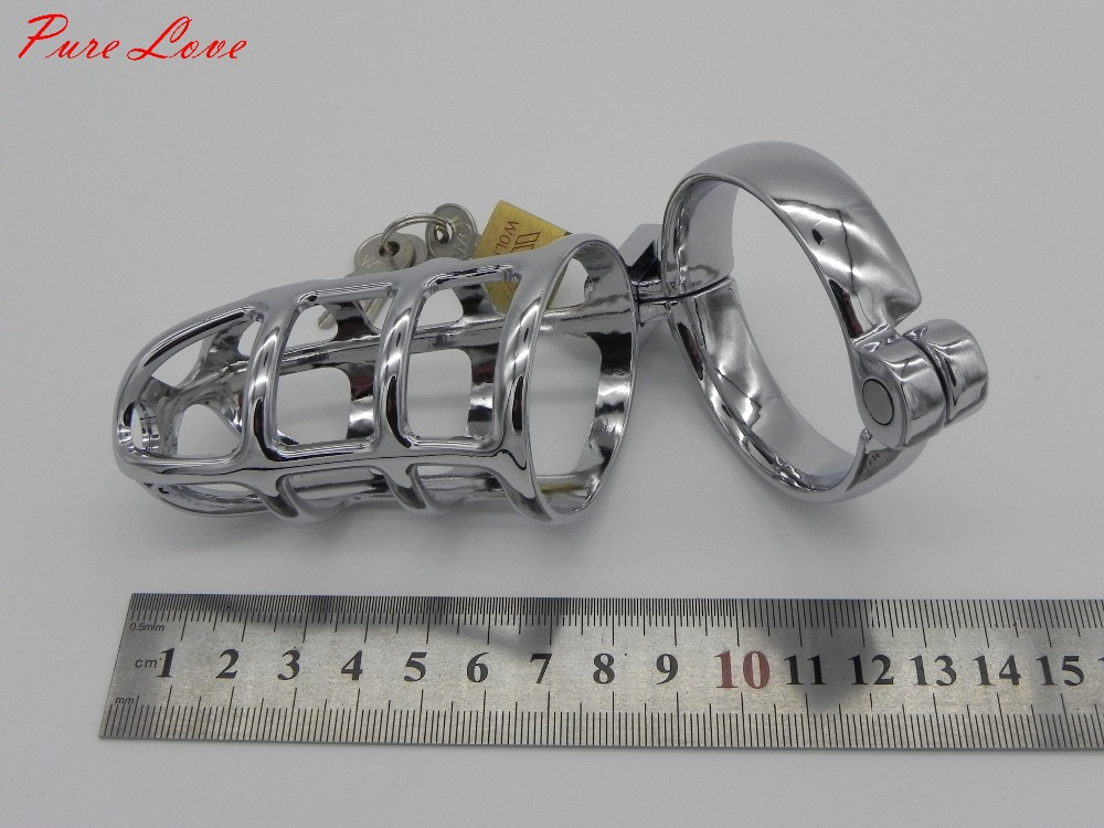 L Size Metal Male Chastity Device Men's Cock Cages with CB Lock 2.0'' Inner diam Penis Ring Adult Games Sex Toys M300-50mm(China (Mainland))