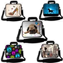 New Soft Neoprene laptop shoulder bag notebook sleeve case for macbook PC 9.7 10 13 13.3  15 15.6 17 17.3  inch Customizable