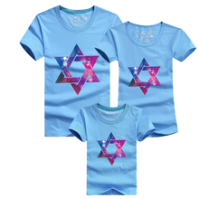 2016 New Time-limited Mother And Daughter Clothes Family Matching Bobo Choses Girls Boys Pentagram T-shirts Women Men Crop Tops