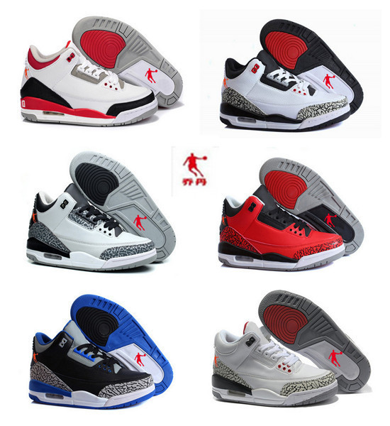 2015 hot sale high quality retro china jordan 3 men basketball shoes best service for you US Size 5.5-8.5 Free Shipping(China (Mainland))