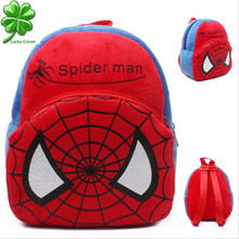 1-2 year old Spider-Man Child small school double shoulder bags plush baby boys 3 D Kids kindergarten backpack Cartoon mochila