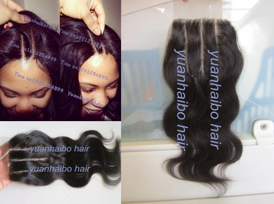 Stock! top 6A grade #1b 4*4inch body wave virgin peruvian 3 part lace closure swiss lace bleached knots free shipping<br><br>Aliexpress