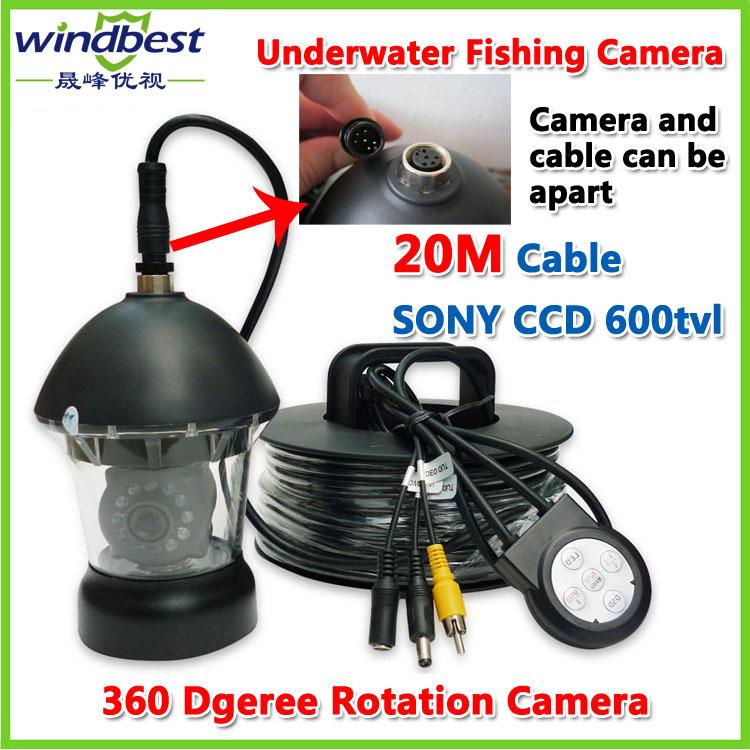 CCTV PTZ Underwater Fishing Camera Fish Finder 1/3 SONY CCD 600TVL 20m Cable 12pcs IR/White LEDs Rotate 360 Degree Plastic Case(China (Mainland))