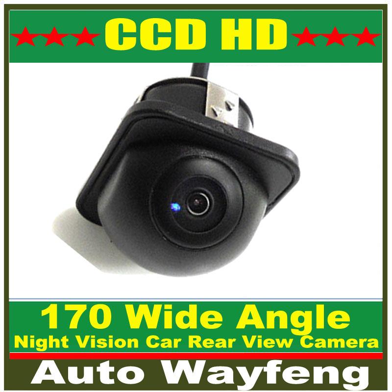 170 Wide Angle Night Vision Car Rear View Camera Front Camera Viewside Camera Reverse Backup Color Camera 6M Cable Free Shipping(China (Mainland))
