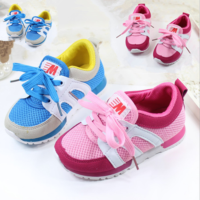 Lace-up Kids Shoes Boys Sport Running chaussure enfant Children Girls/ lumineuse Sneakers 15.5-17.5cm - Best Baby Kingdom store