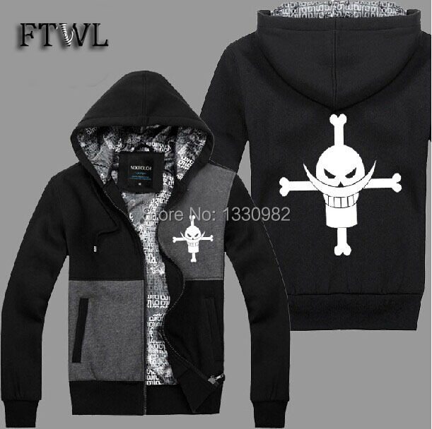 one piece hoodie men jacket Edward Newgate hoodies autume and winter sweatshirt  anime white beard costume clothes 3styleОдежда и ак�е��уары<br><br><br>Aliexpress
