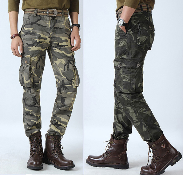 Buy Combat Men's Cotton Military Camouflage Cargo Pants ARMY Camo ...