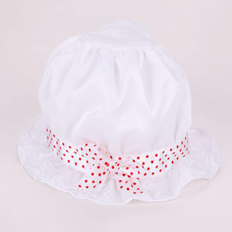 Cute Kid Toddler Baby Girl Boy Knot Whit Pink Hat Dot Summer Bucket Sun Cap White 2016 New<br><br>Aliexpress