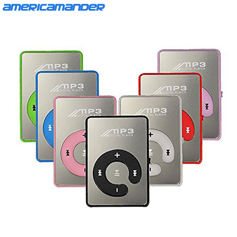 Mini Mirror No Screen MP3 Clip Plugin Card Smart Music Player Portable Sports Leisure Perfect Sound MP3 Player Memory Play(China (Mainland))