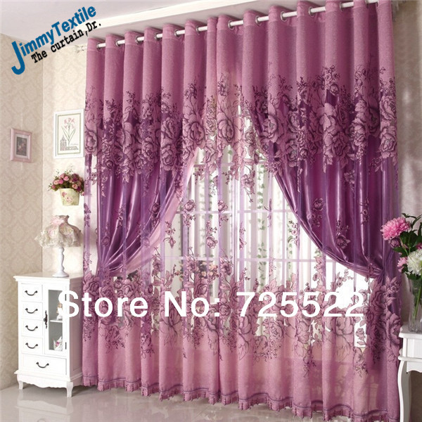 Promotionnew 2014 modern european style embroidery sheer for Modern curtains for living room 2014