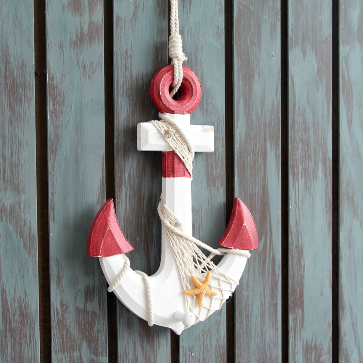 The mediterranean creative anchor do old hang indoor home for Anchor decoration for the home