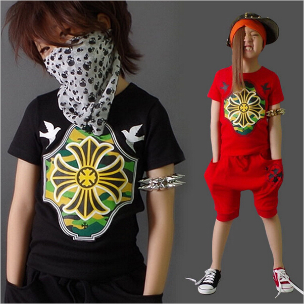 Summer Kids Clothes Sets Boy font b Girls b font T shirt Shorts 2 Pcs Set