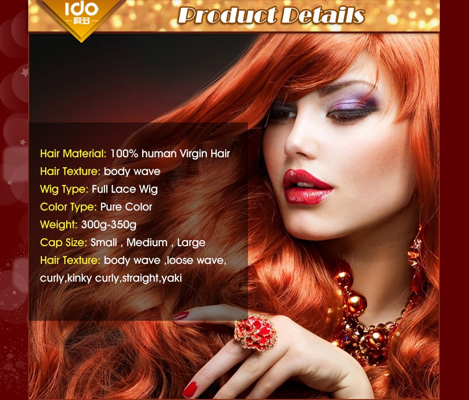IDO Brazilian Virgin Hair Full Lace Human Hair Wigs Body Wave Lace Front Human Hair Wigs Glueless Full Lace Wigs For Black Women