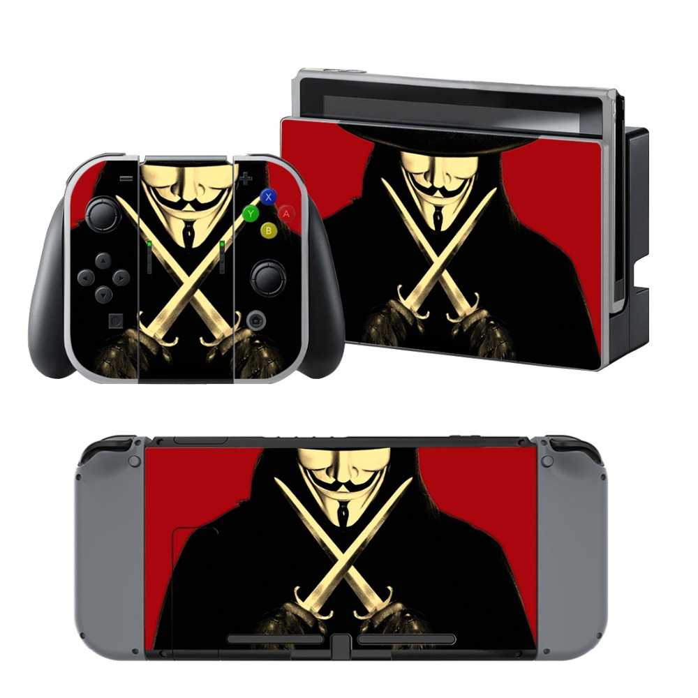Newly Arrival Vinyl Skin Sticker for Nintendo Switch Console Protector Cover Decal Vinyl Skin for Skins Stickers 0146