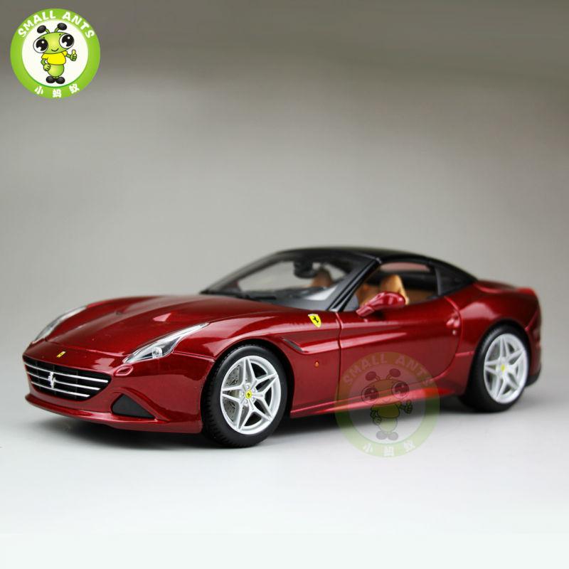 1:18 Scale Ferrar California T Signature Series Diecast Car Model Close Top Bburago BBU16902 Red(China (Mainland))