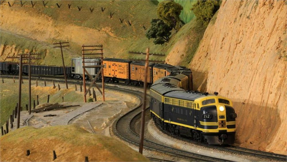 Oil Painting Fallout Paintings Model Train Toy Railroad Minature Trains Tracks 003 4 Sizes Home Decoration Canvas Poster Print(China (Mainland))