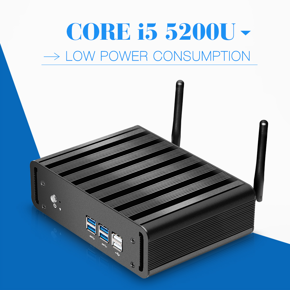 Best quality core x31-i5 5200u 2.2GHz hosts micro industrial pc mini pc for thin client terminal support high performance(China (Mainland))