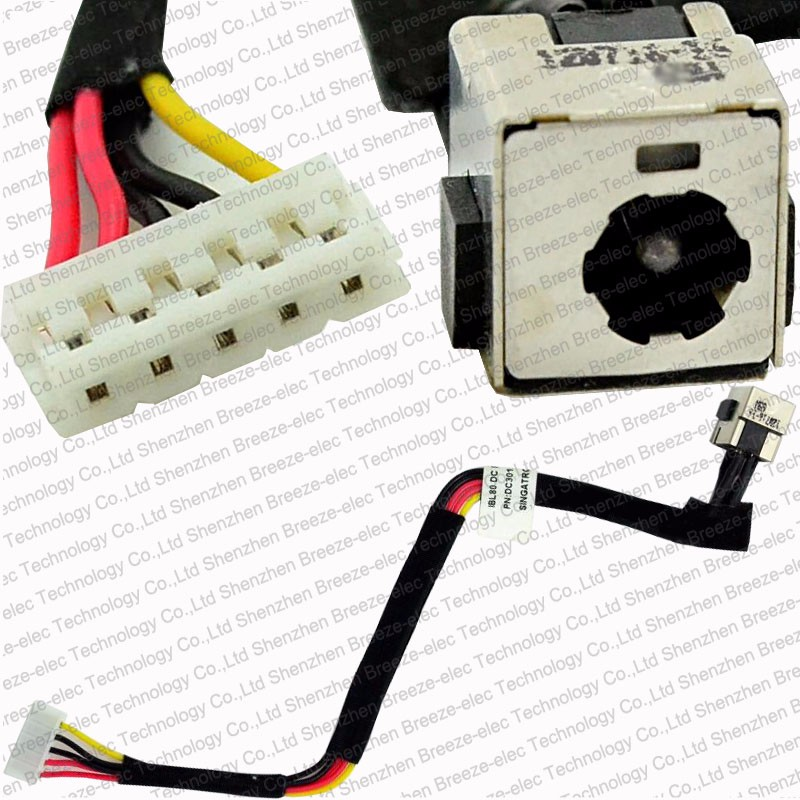 90W New Laptop DC Power Jack socket cable wire harness for HP for Compaq Presario V3000 V3100 V3200 V3200 A900 DC301002X00(China (Mainland))