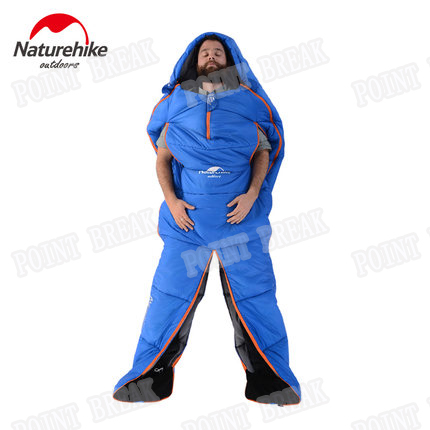 POINT BREAK Suitable For Outdoor Camping or Indoor Lunch Break Humanoid Sleeping Bag With Legs Separated Filling Cotton Big Size(China (Mainland))