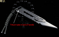 Titanium Alloy Carving knife Utility knife Fixed Blade Knife With Tritium light