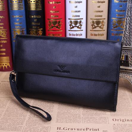 Unique design Famous brand genuine leather bag High quality Business Casual men clutch bag Cowhide handbags Long wallets purses(China (Mainland))