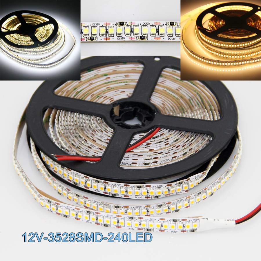 10 rolls 50 meter smd 3528 led light 240led m ultra bright light non waterproof warm
