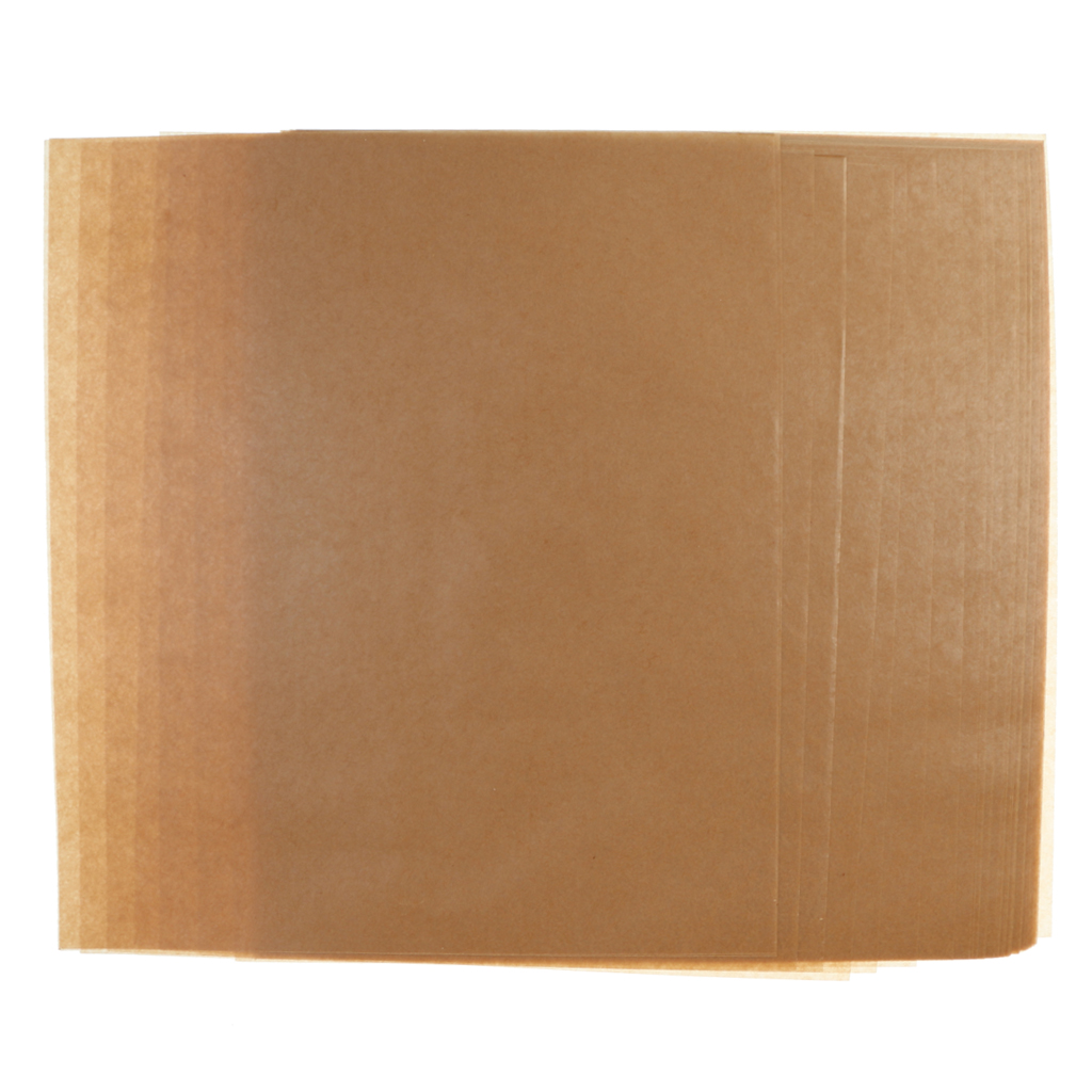 50 Sheets Brown Waterproof Wax Paper for Candy Wrappers Oil Packing Paper Gifts Packaging Materials