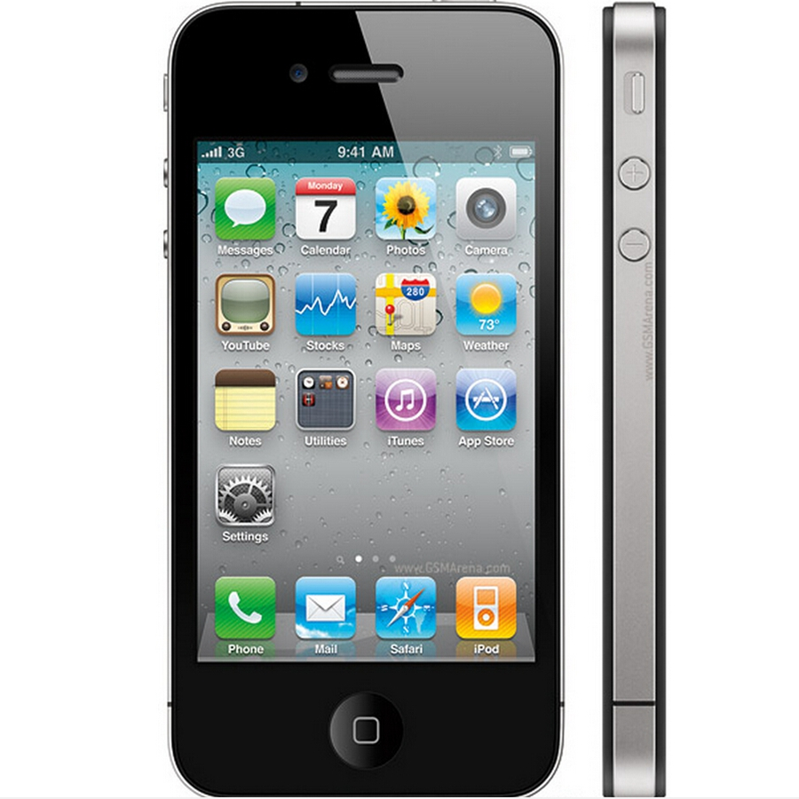 Original Factory Unlocked Apple iPhone 4 White Black GSM GPS WIFI 5MP 3.5 inches 8GB 16GB 32GB Mobile Phone(China (Mainland))