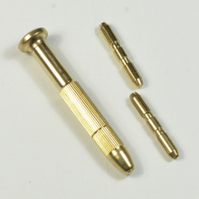 1 set DIY Brass Screwdrivers Bar for Jewelry PCB Wood Nail Drill Art Charm Piercing Handheld Drill Chuck Set(China (Mainland))