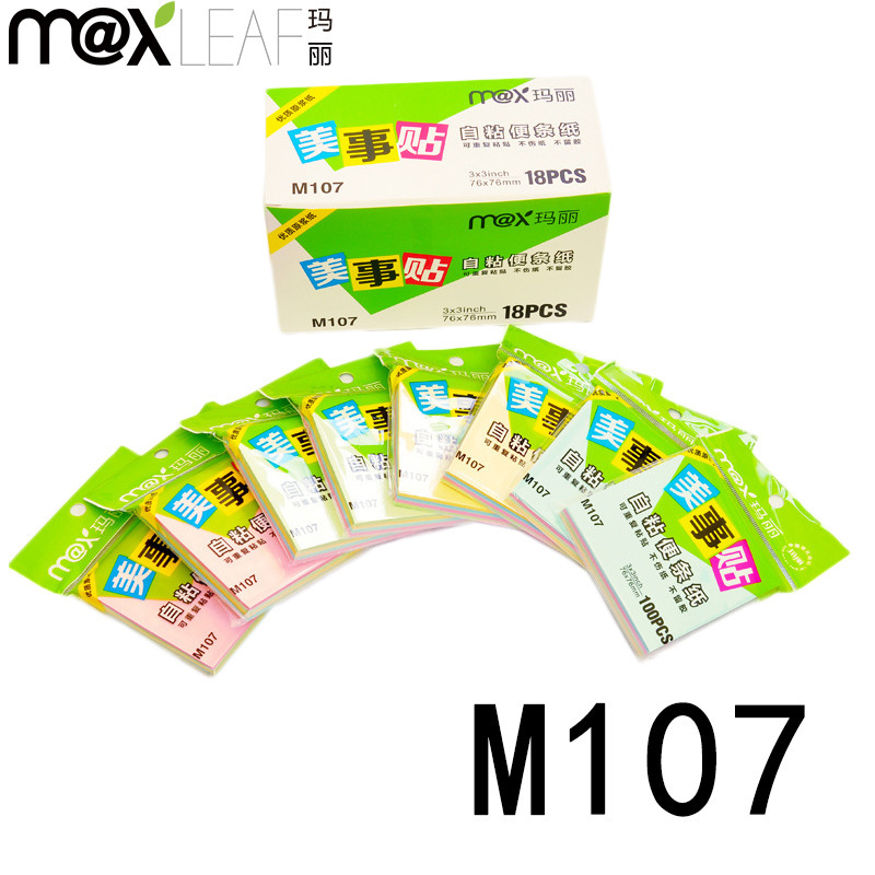 76mm*76mm NEW Koreamixed color sticky notes Pretty kawaii Sticker Bookmarker post it memo pad stationery M107(China (Mainland))