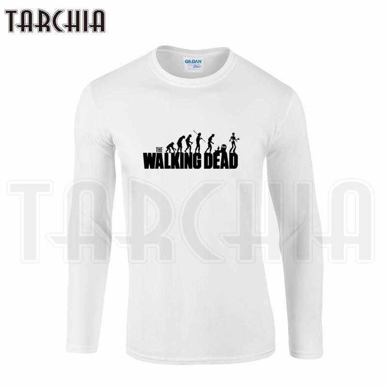 TARCHIIA Brand Eur Size Free Shipping Long Sleeve Men Tee The Walking Dead Men's T-Shirt 100% Cotton Plus Size Homme Boy Wear  HTB1ITlNKpXXXXcsXXXXq6xXFXXX3
