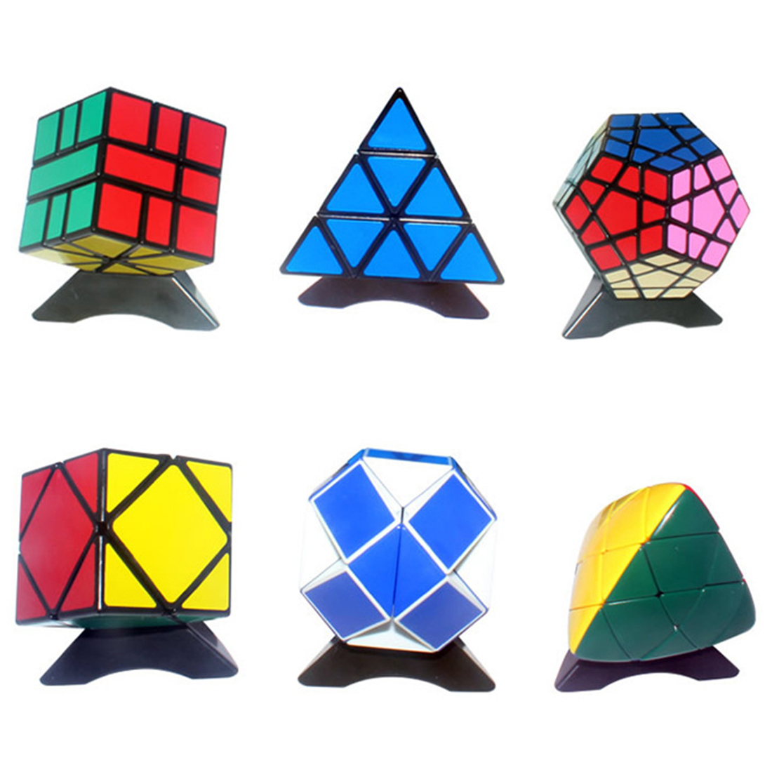 Shengshou Irregular Dice Pacakge 6-Piece Magic Dice Set Velocity Puzzle As New Yr Christmas Present
