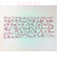 10PCS Flower Floral Pattern Silicone Laptop keyboard Skin Protector Cover film Guard for Apple Macbook Pro Air Retina 13 15 17