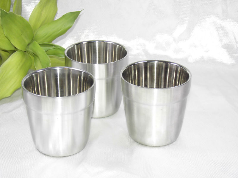 3pcs heat insulated stainless steel double wall handleless beer mug water cup in mugs from home - Handleless coffee mugs ...