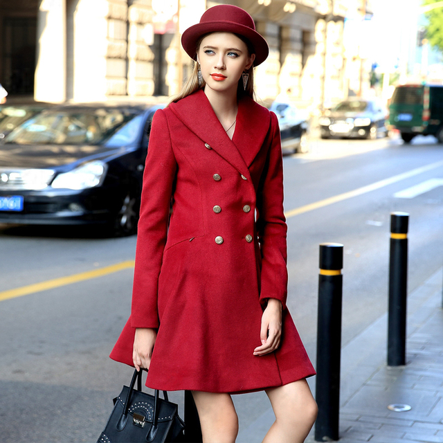 Осень пальто Празем 2015 плащ женская мода средней длины с длинными рукавами тонкий женский жакет Бесплатная Доставка размер S-XXL