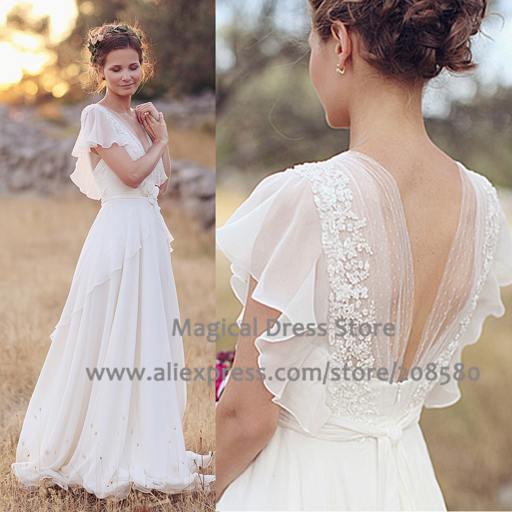 Summer 2016 Country Western Wedding Dresses Plus Size V