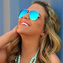 2015 marke designer pilotenbrille weiblichen oculos Pilot uv400 Punkte Sonne glas männer schattierungen Männermode Fahrt brillenfassungen frauen(China (Mainland))