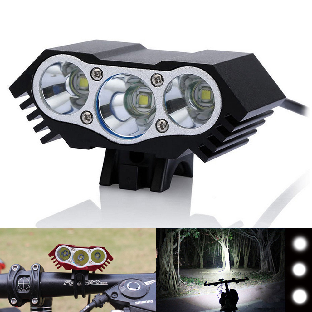 2016 New Hot Extensive 7200 Lm 3x CREE XM-L U2 LED Front Bicycle Lamp Bike Light Head Black Freeshipping&Wholesale(China (Mainland))