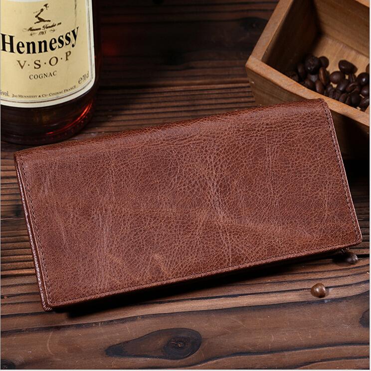 2015 High Quality Designer Wallets Famous Brand Men Wallets Genuine Leather  Vintage Long Men Wallet Purse carteira feminina