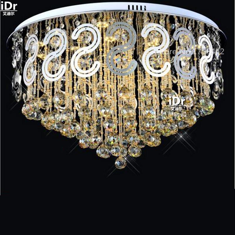 led low-pressure crystal lamp modern circular living room bedroom lamp restaurant lights luxury status Ceiling Lights Rmy-0333(China (Mainland))