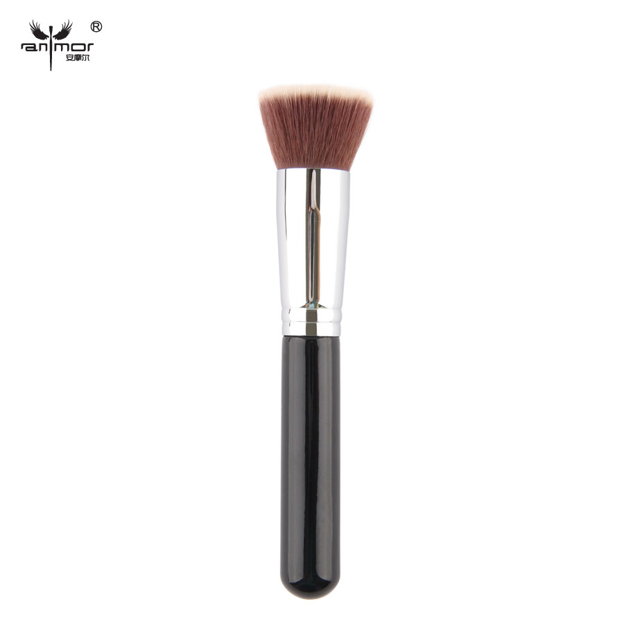 Hot Sale Anmor Flat Kabuki COPPER Ferrule Synthetic Hair Makeup Brush Quality Guarantee(China (Mainland))
