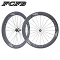 2017 FCFB Carbon Wheels 700C F60 Road Bike Carbon Wheels FASTACE RA209 Hubs 60mm depth Clincher