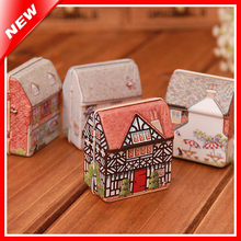 Mini House Vintage Metal Tin Box With a Lid For Candy Jewelery Storage Container Sundries Organizer Gift Packing Decorative Box(China (Mainland))