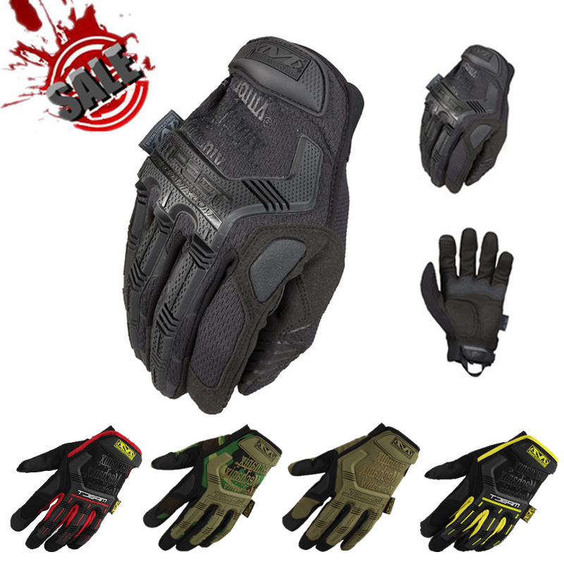 Mechanix Wear M-Pact Military Tactical Airsoft Hunting Outdoor Paintball Motorcycle Motorbike Bicycle Bike Full Finger Gloves(China (Mainland))