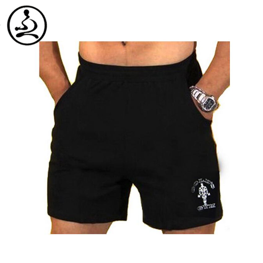Men's Fitness Shorts With Pockets Bodybuilding Short Men Golds Athelete Shorts Weight Lifting ...