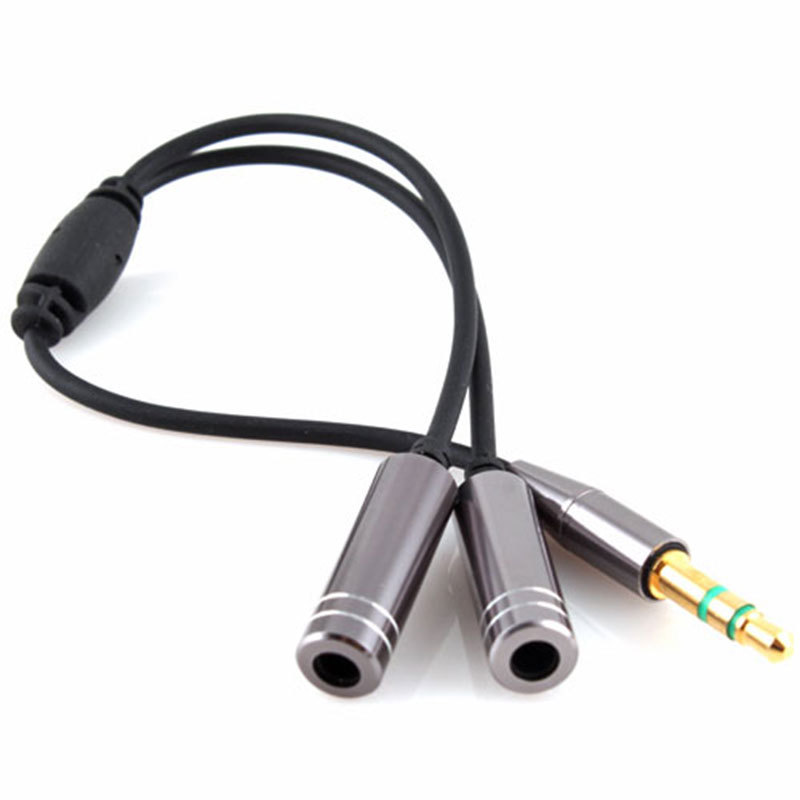 3.5MM Extension Earphone Headphone Audio Splitter Cable Adapter Male to 2 Female #8697(China (Mainland))